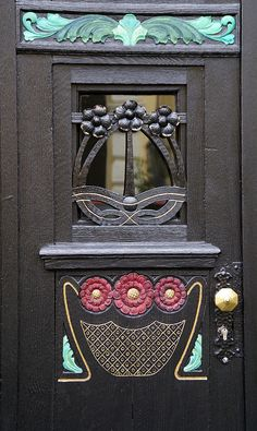 Kues, Jugendstil-Haustür (Art deco front door) by HEN-Magonza, via Flickr