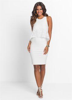 Kleid mit Spitze wollweiß - BODYFLIRT boutique jetzt im Online Shop von bonprix.de ab ? 39,99 bestellen. Ideal für festliche Anlässe. Schikes Kleid mit ...