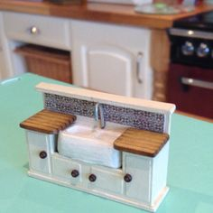 Now available, 1/48, miniature, sink and cabinet
