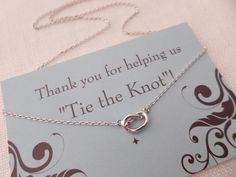 Silver, gold or rose gold Love Knot necklace..Tie the Knot necklace....dainty, everyday, simple, birthday, wedding, bridesmaid jewelry by TiffanyAvenueBridal on Etsy https://www.etsy.com/listing/161615752/silver-gold-or-rose-gold-love-knot