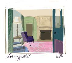 Illustration of living#2 / VIC