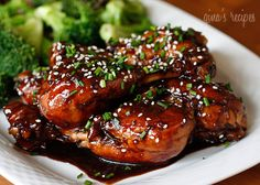 Asian Glazed Drumsticks - These Asian inspired drumsticks are finger lickin' good!