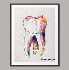 Dental Molar Tooth canvas painting Wall art poster