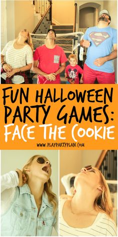 Halloween Party Game Ideas - Face The Cookie