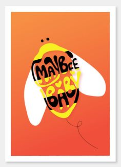 Items similar to Maybee Baby - - - art print and illustration by Sophia Georgopoulou on Etsy Daily Thoughts, A4, Art Prints, Trending Outfits, Logos, Unique Jewelry, Handmade Gifts, Illustration, Etsy