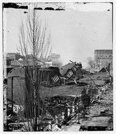 Atlanta in ruins during civil war by katie