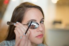Align the curve of the spoon to your brow to get the perfect arch.