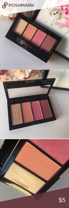Maybelline blush palette Maybelline blush palette. I used it a couple times but it's just not for me. My loss your gain! Maybelline Makeup Blush
