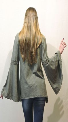 Bell Sleeves, Bell Sleeve Top, Spring Collection, Military Jacket, Jackets, Tops, Women, Fashion, Down Jackets