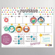 My School Days Routine magnet kit - Magnets - Magnetic Board - Routine - Elementary school - Homework - Lessons - Kids - Child - Minimo Routine Chart, After School Routine, School Routines, Babysitting Activities, Daily Activities, Chore Magnets, School Days, Teaching Kids, Elementary Schools