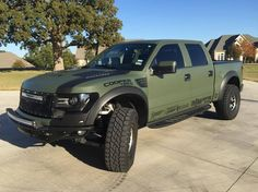 Army Green Ford Raptor