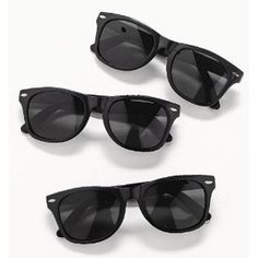 "Plastic Black Nomad Sunglasses (Qty. 12) by funexpress. $10.50. Measure 5 1/2"". 1 Dozen per set. No UV Sun protection. Plastic Black Nomad Sunglasses. Each with super dark lenses. Each piece bar coded. 5 1/2"""