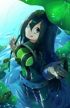 Anime Art | My Hero Academy | Asui Tsuyu