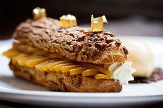 Caramelised Apple Éclair with Calvados Cream | Jason Atherton