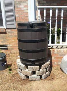 DIY Rain Barrel Stand Tutorial