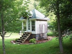 I think this might be a play house - the cutest thing ever!