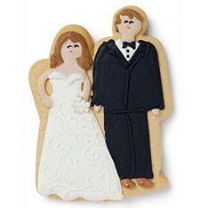 Cutest wedding favors. Cookie couple!