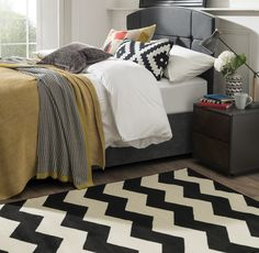 Buy Maestro Chevron Black/White Rug at Carpetright, the UK's leading carpet, flooring and rug retailer. Buy from our new range of great value online exclusive rugs today. Ideal Home, Red Rugs, Grey Carpet, Grey Chevron Rugs, Home Decor, White Rug, Black White Rug, Chevron Rugs, Chevron Floor