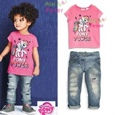 My Pony Jeans & T-Shirt - 2 Piece Set Jeans Style, Outfit Sets, Summer Collection, Kids Girls, Pony, Girl Outfits, Spring Summer, Clothing Sets, T Shirts For Women