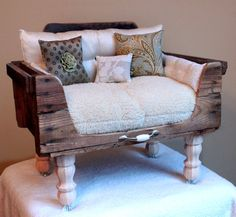 Pet dog bed bed cat bed FREE SHIPPING by designercraftgirl on Etsy, $900,00