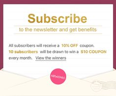 Newchic's newsletter subscription Mobile