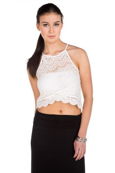 Crochet Lace Cropped Tank #eclipse