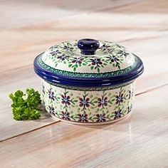 Polish Pottery Covered Casserole in Holiday 2012 from Artisan Table on shop.CatalogSpree.com, my personal digital mall.