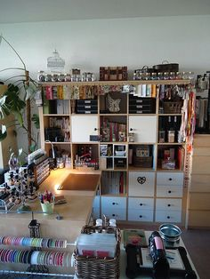 love the Ikea expedit...makes me want to find room for mine upstairs! :)