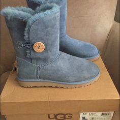 "🎉NWT! ""✨UGG"" Bailey Button Boots! 🎉NWT! ""UGG"" Bailey Button Boots! Color ; Blue .. Brand new in box .. 💞Size 7 .. No Trades ! UGG Shoes"