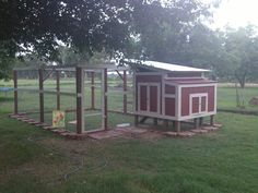 DIY Chicken Coop for backyard chickens! My husband made me this for Mother's Day! I'm naming it the Red Roost Inn!