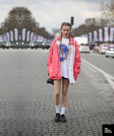 paris outfit: cornrows & leo