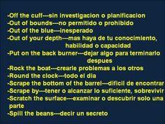 CLASES DE INGLES BASICO # 57. DICHOS EN INGLES (IDIOMS) 2