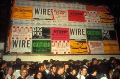 """1988 Large queue waiting for """"The Trip"""" party at the Astoria in London."""