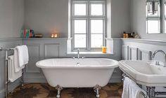 Victoria Home Decor Magazine | Elegant freestanding roll top bath | cottage bath