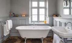 Victoria Home Decor Magazine | Elegant freestanding roll top bath | cottage bath