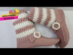 Crochet Ripple, Crochet Cap, Crochet Dolls, Knitting Baby Girl, Baby Knitting Patterns, Knitting Socks, Hand Knitting, Baby Shoes Pattern, Knitted Slippers