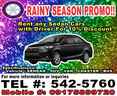 Vehicle Rental, Car Rental, Rainy Season, Travel Tours, Abundance, Transportation, Van, Vehicles, Car