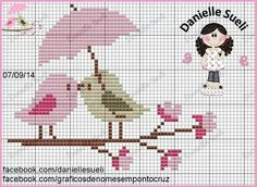 This Pin was discovered by Asi Cross Stitch Pillow, Cross Stitch Pictures, Cross Stitch Heart, Cute Cross Stitch, Cross Stitch Animals, Cross Stitch Flowers, Cross Stitch Designs, Cross Stitch Patterns, Baby Embroidery