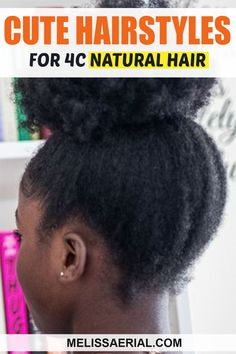 4C short hairstyles to try on your hair this month. Natural Hair Types, Long Natural Hair, Natural Hair Updo, Type 4c Hairstyles, Black Women Hairstyles, Short Hairstyles, Protective Hairstyles For Natural Hair, Hair Regimen, Natural Hair Inspiration
