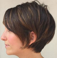 Shaggy Pixie Bob With Babylights Pixie Bob Haircut, Angled Bob Hairstyles, Short Hairstyles For Thick Hair, Haircut For Thick Hair, Short Pixie Haircuts, Short Hair With Bangs, Hairstyles With Bangs, Short Hair Cuts, Short Hair Styles