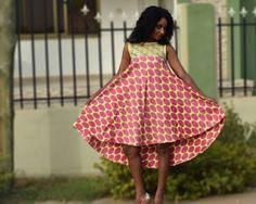 Hi lo Ankara Dresses, Print Dress,African Print Dress, Kitenge, Party Dress, Evening Dress, Cocktail Dress, Sleeveless dress, Women's dress