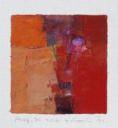 Dit is mijn nieuwe origineel olieverfschilderij vandaag afgerond. Olieverf is erg traag om te drogen, dus het duurt ongeveer een week drogen en verzenden via mijn studio.  Dank u Hiroshi Augustus 30, 2016 --------------------------------------------------------------------------------------------  Dit is een originele Abstract olieverfschilderij door Hiroshi Matsumoto  Titel: 30 Aug. 2016 Grootte: 9.0 x 9.0 cm (app. 4 x 4) Canvasgrootte: 14.0 x 14.0 cm (app. 5.5 inch x 5.5 inch) Media…