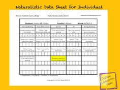 Autism Classroom NewsFreebie! Excel Template for Weekly Data Analysis--with Video