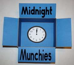 Midnight Munchies snack military care package decorated box