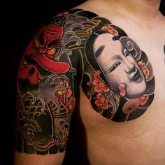 Mask tattoos by Haewall