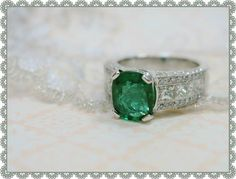 Two and a half carat emerald ring.