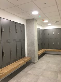 Phenolic lockers from Line HEBE™ (hpl) are dedicated to wet locker rooms connected with swimming pools and and may also be an alternative to. Locker Room Bathroom, Wooden Bathroom, Bathroom Caddy, Used Lockers, Gym Lockers, Wooden Lockers, Pool Changing Rooms, Locker Designs, Bar Designs