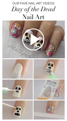 Halloween Day of the Dead #nailart