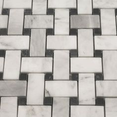 Carrara Marble Ephesus White 12 x 12 Basketweave Honed Mosaic Tile  Master bath