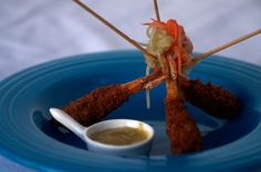 Panko-Crusted shrimp, served with Thai Pickle Salad